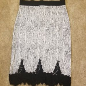 H&M Pencil Skirt with Lace Bottom